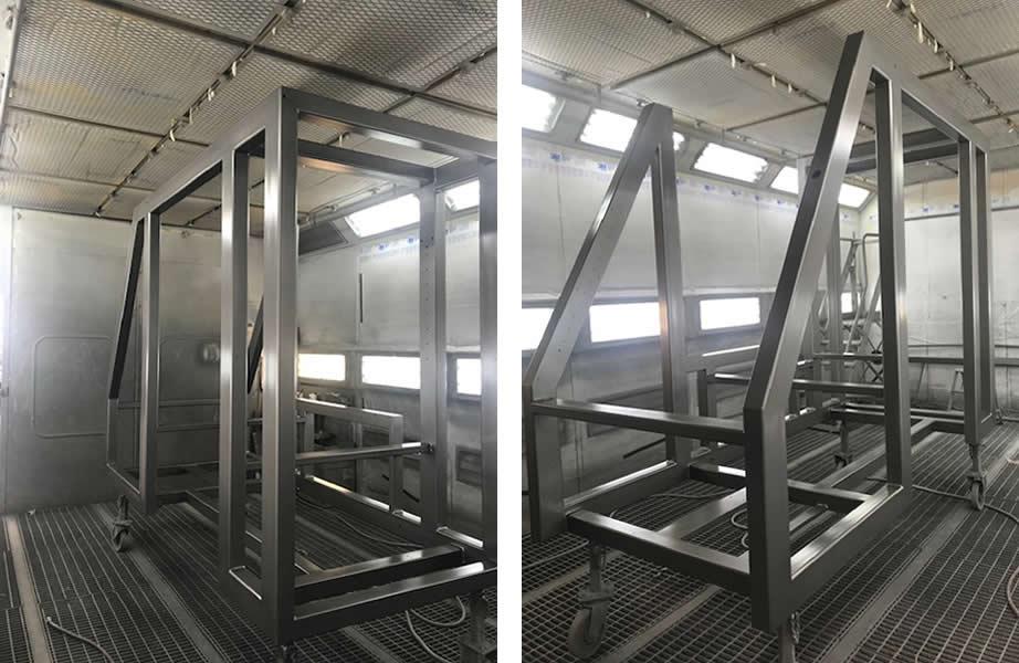 Venrniciatura struttura in acciaio